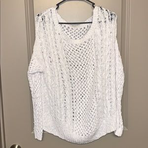 Abercrombie & Fitch white knit sweater size M